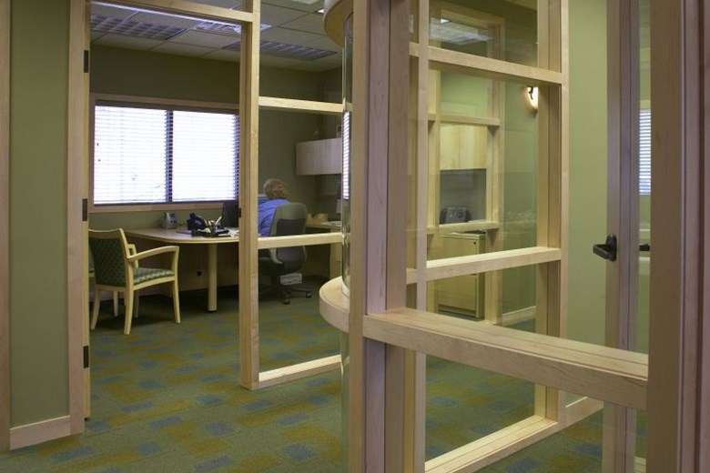 Bay Title and Abstract Corner Office